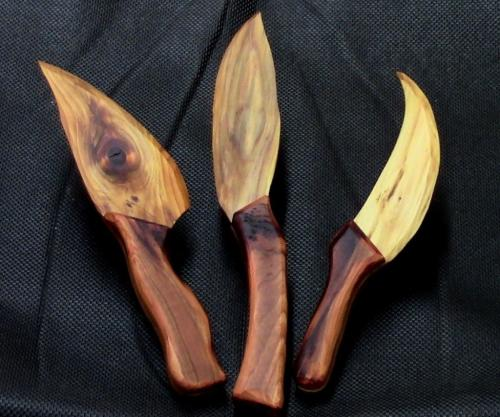 Ножи из дерева. Как сделать нож из дерева