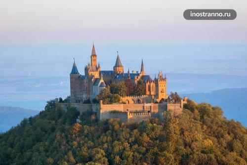 Знаменитый немецкий замок. Замок Гогенцоллерн