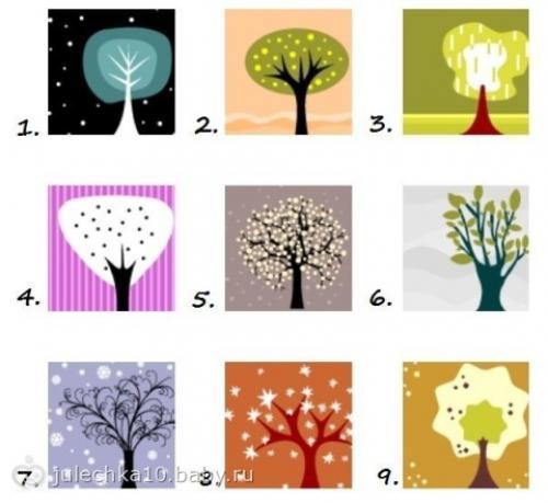 Тест личности. Не задумываясь, выберете дерево, которое кажется вам наиболее привлекательным?