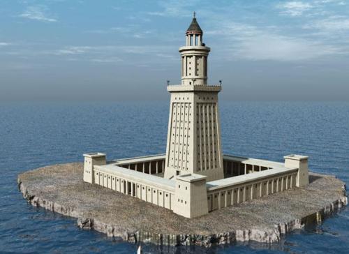 Александрийский маяк семь чудес света. Александрийский маяк