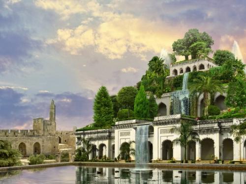 Висячие сады Семирамиды одно из семи чудес света. Сады Семирамиды