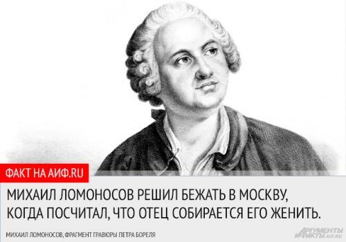 Ломоносов интересные факты из литературы. Интересные факты из жизни Ломоносова