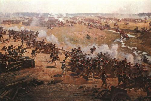 Картина бородинская битва. Бородинская битва в полотнах художников.