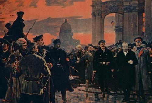 Правда о Революции 1917 года.  Ссамого начала власть большевиков была едина, асотрудничество сдругими партиями было прервано сразу после захвата власти