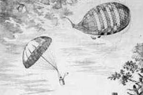 Изобретение парашюта. Парашют