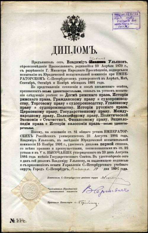 Как учился Ленин. Было ли у Ленина высшее образование?