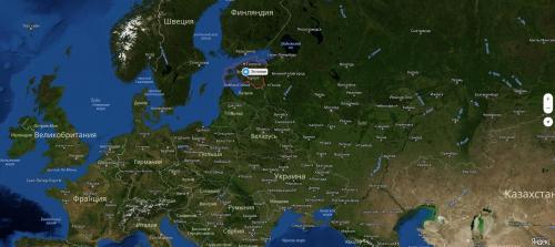 Эстония на карте мира: география, природа и климат