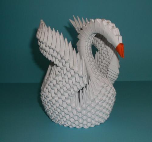 Техника оригами лебедь. Изготовление объёмного лебедя