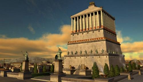 7 чудес света до и после разрушения.  Мавзолей в Галикарнасе