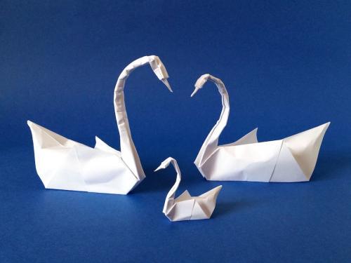 Как сделать лебедя из бумаги своими руками