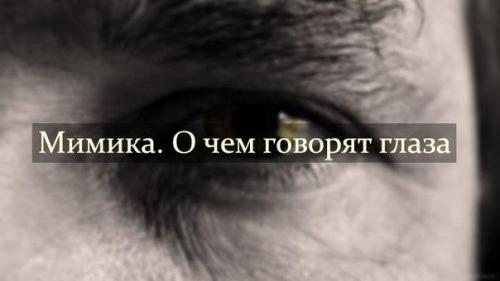 """Что говорит о человеке цвет глаз. """"Мимика.  О чем говорят глаза""""."""
