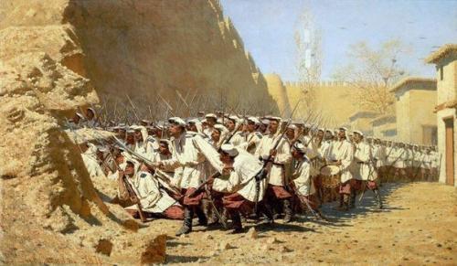 Оборону самарканда 1868. В 1868 году 600 русских солдат смогли выстоять против 65-тысячной армии самаркандского эмира в обороне Самарканда.