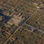 Тимгад - древний римский город с сохранившейся перпендикулярной застройкой.
