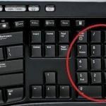 Чтобы написать символ, воспользуйтeсь Numlock клавиатурой.