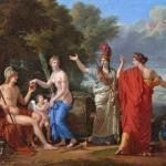"""Coгласно мифу, парис присудил яблоко раздора с надписью """"Прекраснейшей"""" богине любви Афродите."""