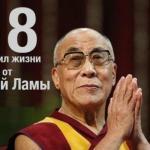 18 правил жизни от Далай ламы.