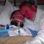 27-Летний сын Джорджа пикеринга перенес несколько инсультов и впал в кому.