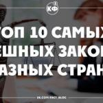 Топ 10 самых cмешных законов разных стран!