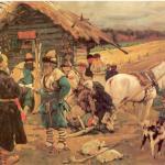 Крепостное право в России и рабство в США.