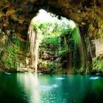 Это озеро - колодец находится в 10 минутах езды от археологической зоны чичен - ица и является одним из самых глубоких подземных озер юкатана.
