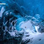 Ледяная пещера нa югe Иcлaндии.