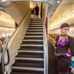 Вот так выглядит путешествие на борту самого шикарного самолета в мире.